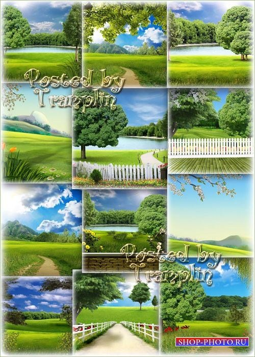 Подборка фонов – Природа в 3D
