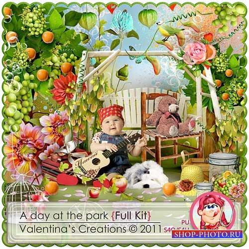 Фруктово-цветочный скрап-набор - День в парке