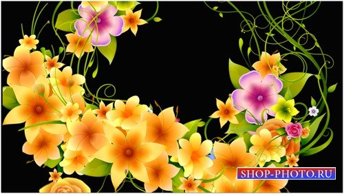Футаж с цветами на альфаканале