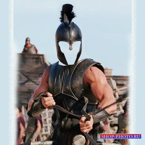 Шаблон для photoshop - Храбрый воин в древние времена