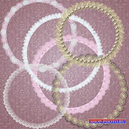 Клипарт - Рамочки кружевные круглые