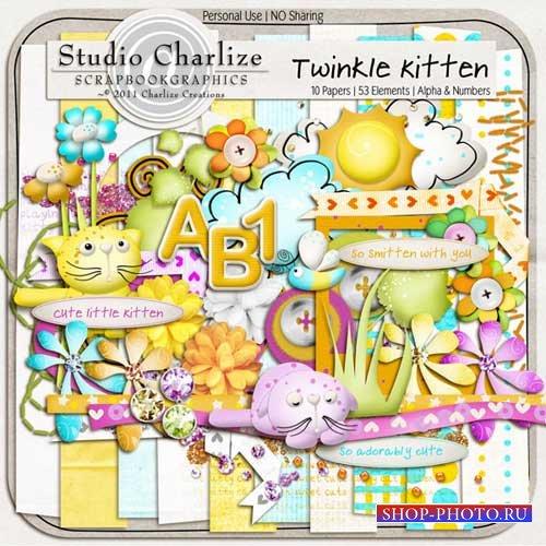 Детский скрап-набор - Весёлый котёнок