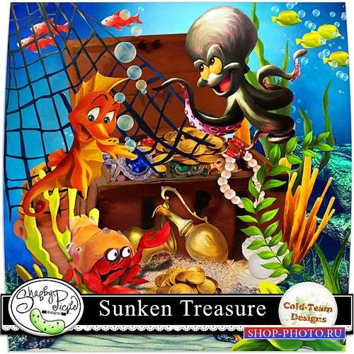 Детский морской скрап-набор - Затонувшие сокровища