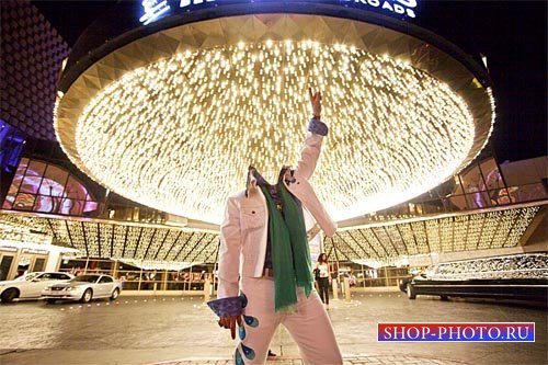 Шаблон для фото - Сияющий Vegas