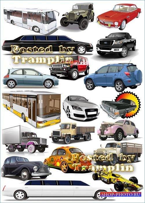 Клипарт автомобили в 3D – Легковые, грузовые, гоночные, автобусы