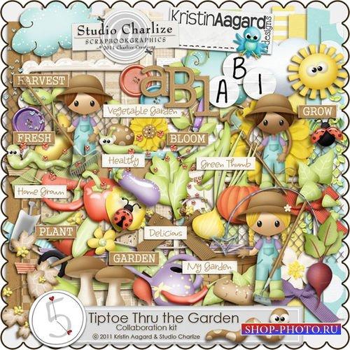Детский скрап-комплект - На цыпочках через сад