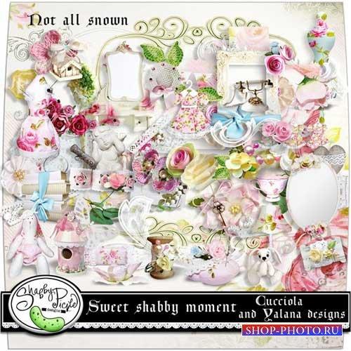 Цветочный скрап-комплект - Сладкий момент