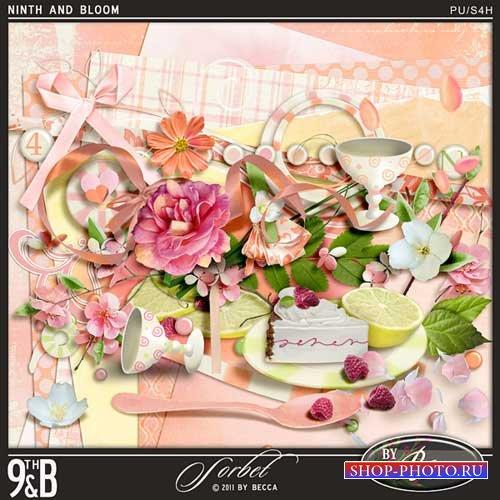 Цветочный скрап-комплект - Сорбет