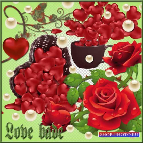 Романтический набор для скрапбукинга - Повеление любви