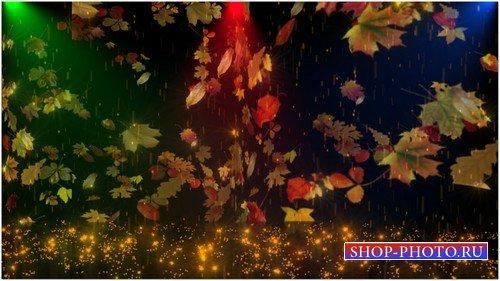 Футаж с альфаканалом - Золотой дождь