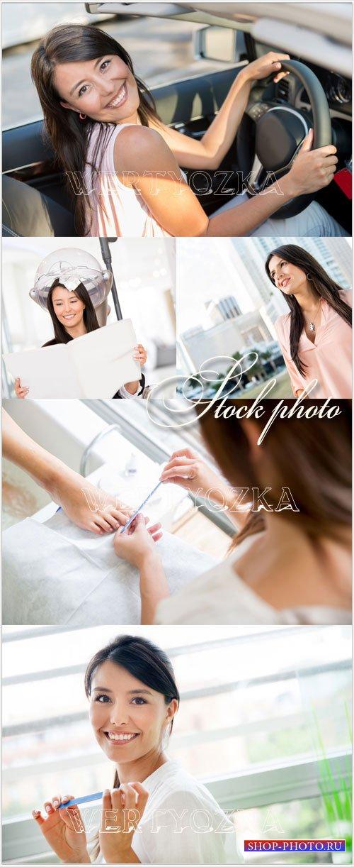 Жизнь женщин, женская заботы / Women's lives, women's care - Raster clipart