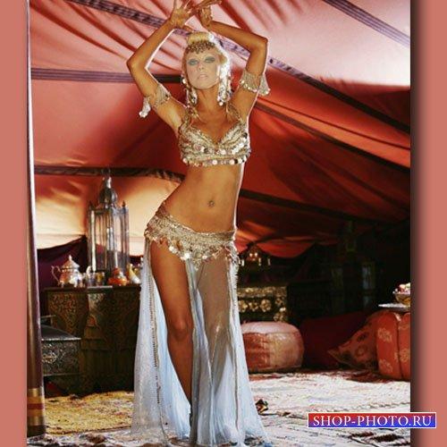 Шаблон для фотошоп - Красивый восточный танец