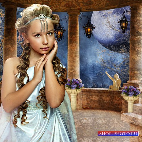 Шаблон  детский -  Римлянка на террасе