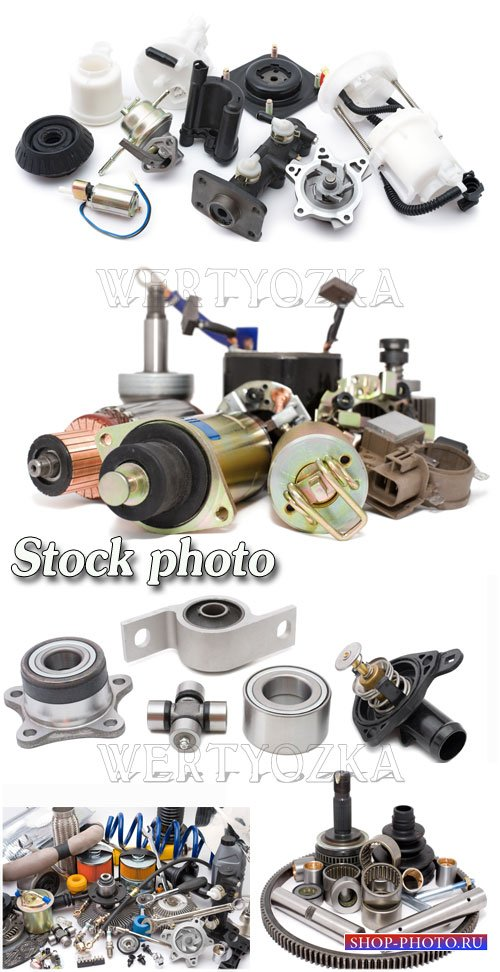 Запчасти для автомобилей / Spare parts for cars - Raster clipart