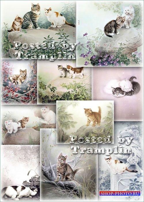 Китайская живопись – Кошки