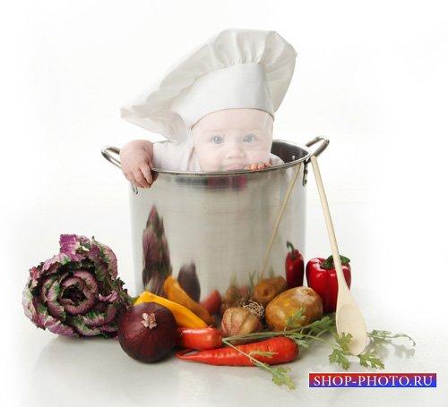Шаблон детский - Маленький помощник на кухне
