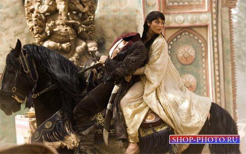 Шаблон psd - Украл принцессу на коне