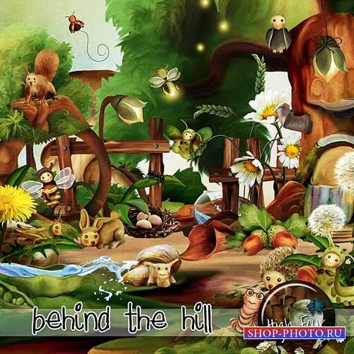Лесной скрап-набор - За холмом