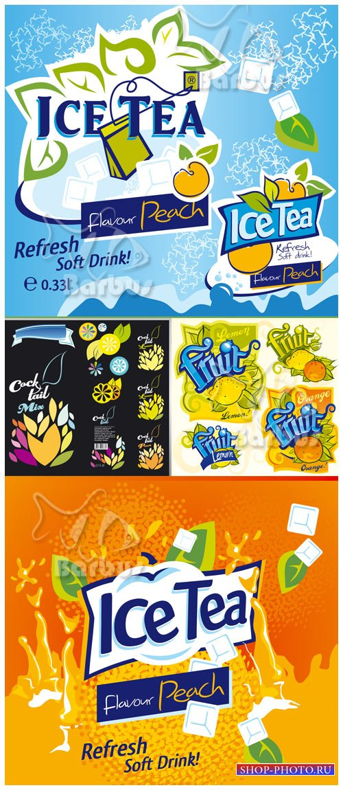Ice tea logo / Логотипы - Холодный чай