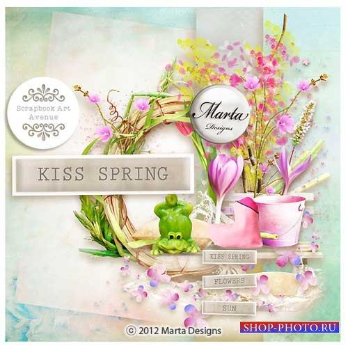 Весенний набор для скрапбукинга - Поцелуй весны