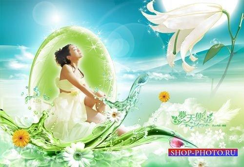 Многослойный исходник Спа – Девушка на волне