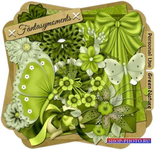 Скрап-набор в зелёных тонах - Зелёные фантазии