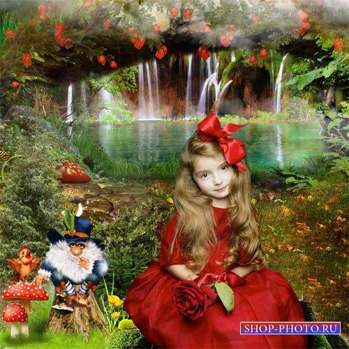 Шаблон  детский - У лесного озера