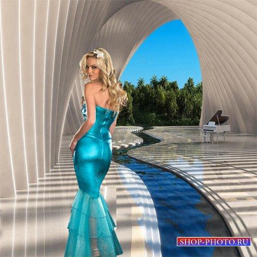 Шаблон женский - Отель на берегу океана