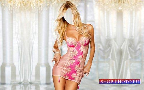 Шаблон для photoshop - Девушка в красивом платье