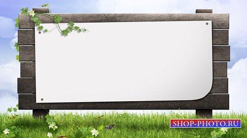HD футаж Вход в сад