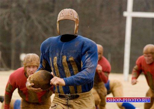 Мужской шаблон - Футболист в американском футболе