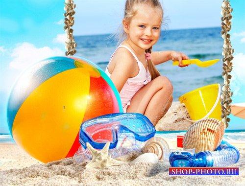 Рамка детская - Строим песочный замок