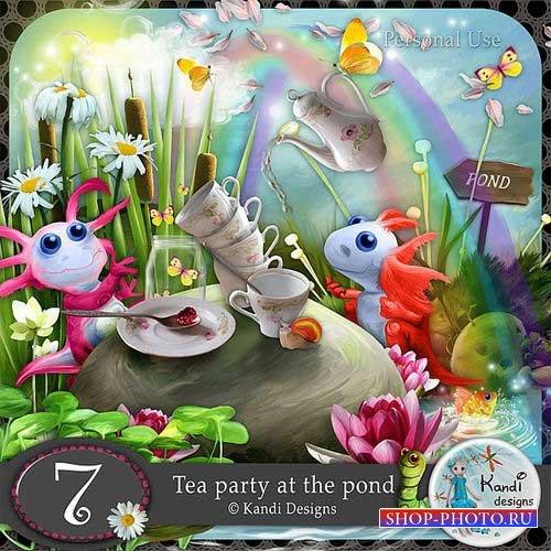 Яркий сказочный набор для скрапбукинга - Чаепитие у пруда