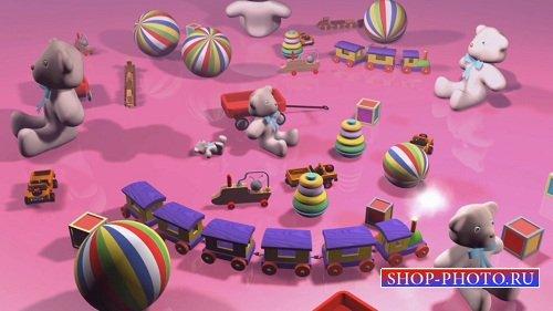 HD футаж Паровозик и игрушки
