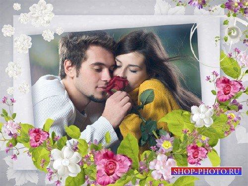 Рамка романтическая для photoshop - Нежность мгновения