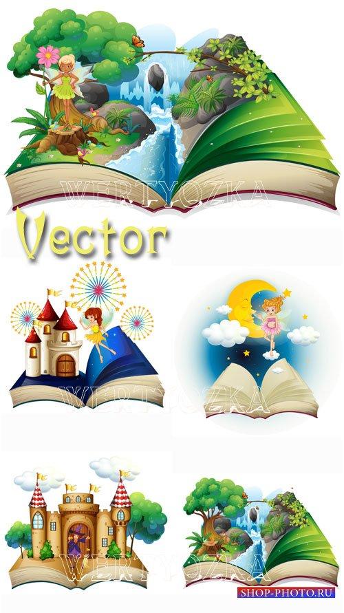 Сказка и сказочные персонажи / Fairy tales - vector clipart