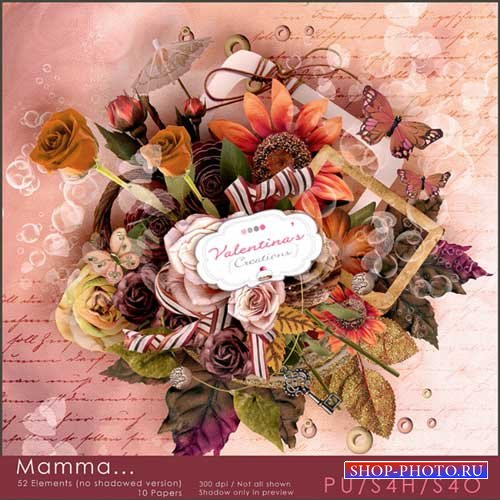 Романтический скрап-комплект - Мама