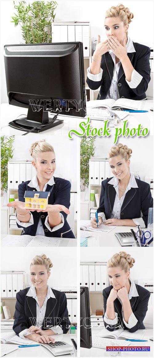 Красивая бизнес леди / Beautiful business lady - raster clipart