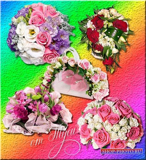Клипарт - Каждый цветок он по-своему нарядный