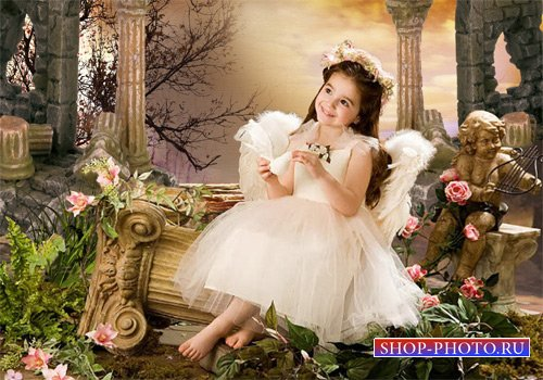 Шаблон  детский - Римская голубка