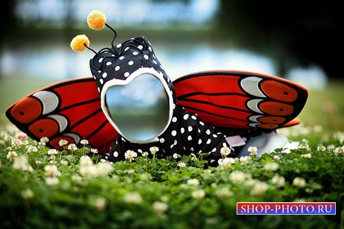 Шаблон для маленьких - Крохотная бабочка