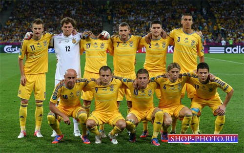Шаблон для фотомонтажа - Футболист Украинской команды