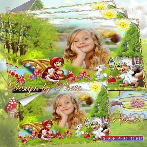 Детская рамка для фото - Красная шапочка