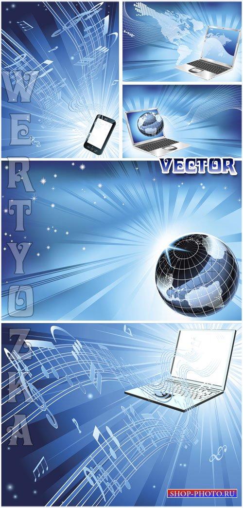 Современные технологии, ноутбук, смартфон / Modern technology, laptop, smar ...