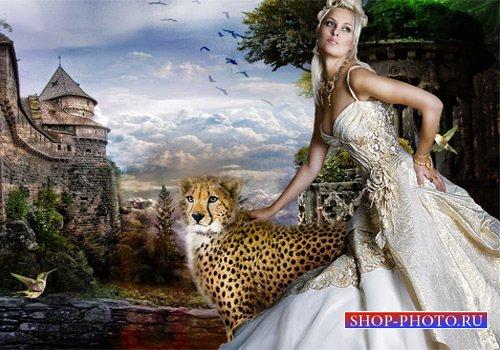 Шаблон женский - На стене крепости