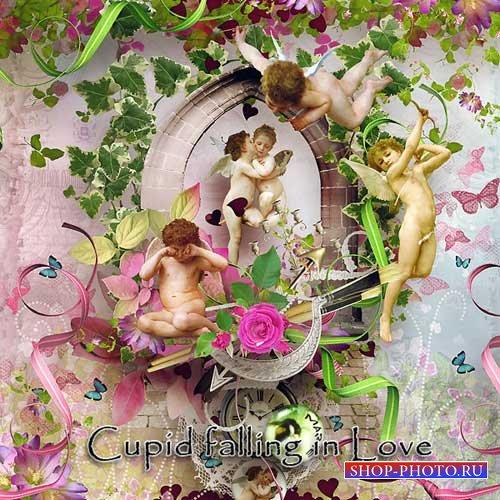 Романтический скрап-комплект - Стрелы Купидона
