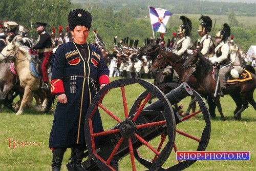 Фотошаблон для фотошоп мужской - артиллерист