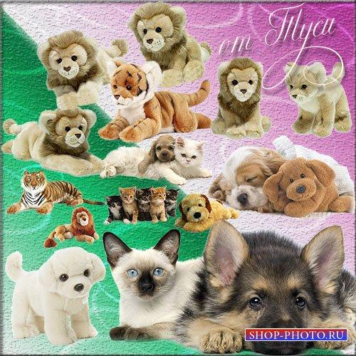 Клипарт - Собачки и котята, львята и тигрята