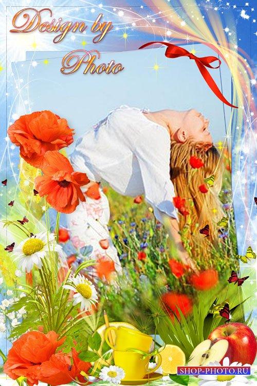 Цветочная рамка - Запестрели солнечные маки