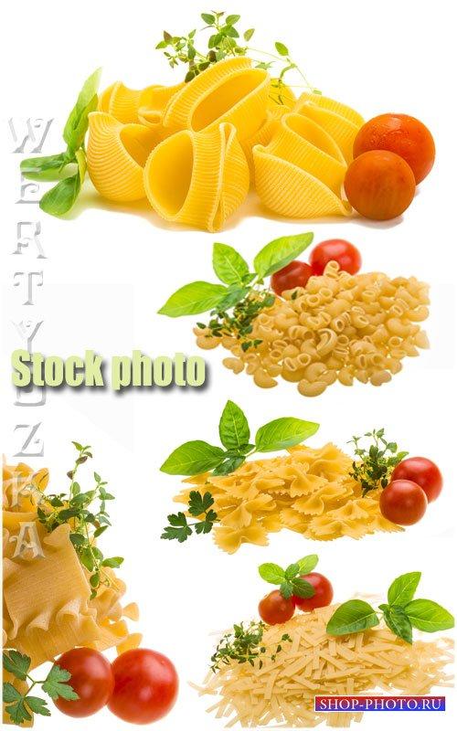 Макароны и свежие томаты /  Pasta and fresh tomatoes - Raster clipart